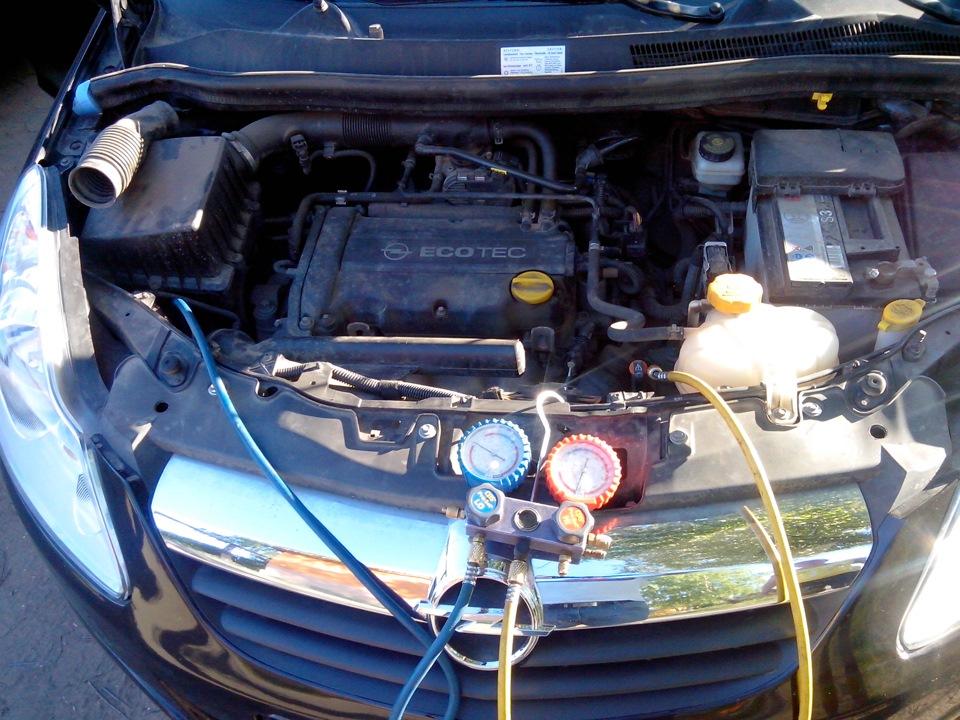 Заправка кондиционера на авто